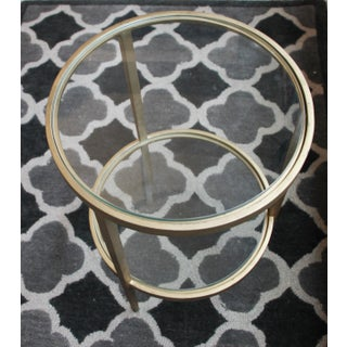 Harden Furniture Glam Gold Tone Accent Table With Two Glass Shelves Preview