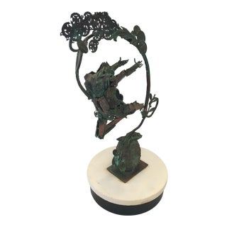 Snell Abstract Copper Sculpture For Sale