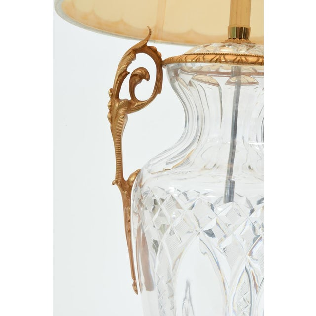 Large Bronze-Mounted / Cut Crystal Table Lamps - a Pair For Sale - Image 4 of 11