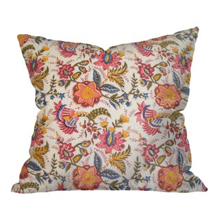 Indian Block Print Floral Pillow