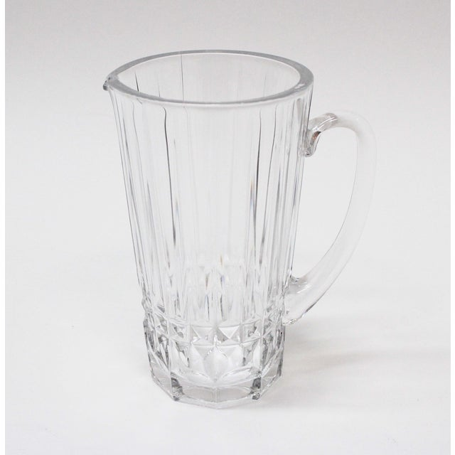 Val St. Lambert Crystal Pitcher For Sale - Image 4 of 5