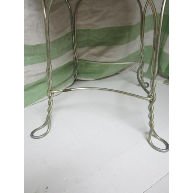Vintage Metal Ice Cream Parlor Chair with Heart - Image 6 of 10
