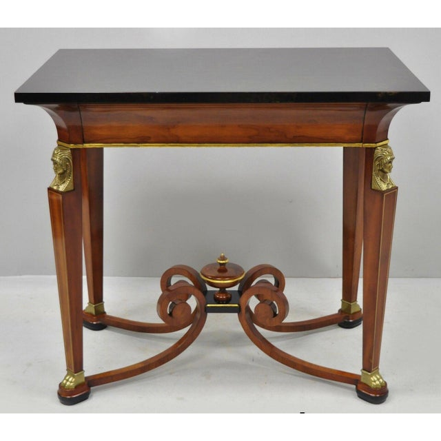 20th Century French Empire John Widdicomb Figural Bronze Mounted Occasional Lamp Table For Sale - Image 12 of 12