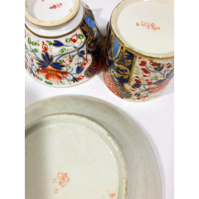 Royal Crown Derby Porcelain Late 18th Century Royal Crown Derby Hand Painted Fine Bone China - Set of 21 For Sale - Image 4 of 5