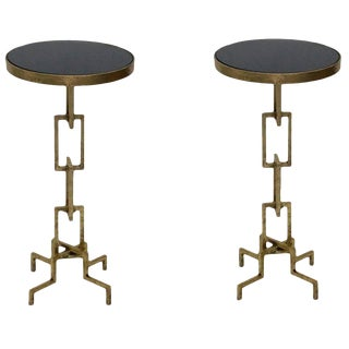 Contemporary Flynn Iron Accent Side Tables - a Pair For Sale