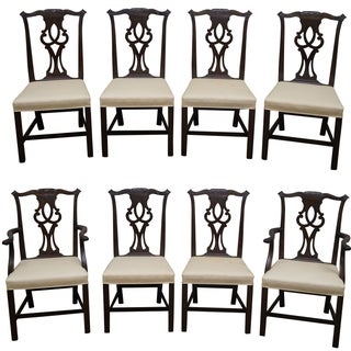 Kittinger Mahogany Dining Chairs - Set of 8 For Sale