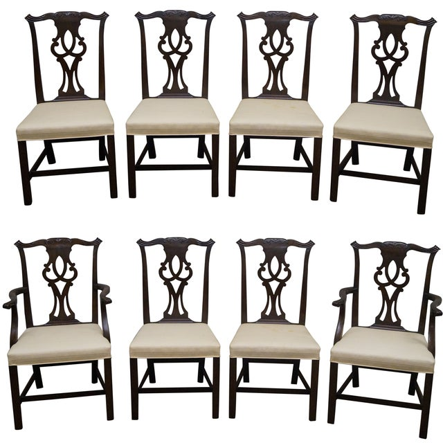 Kittinger Mahogany Dining Chairs - Set of 8 - Image 1 of 10