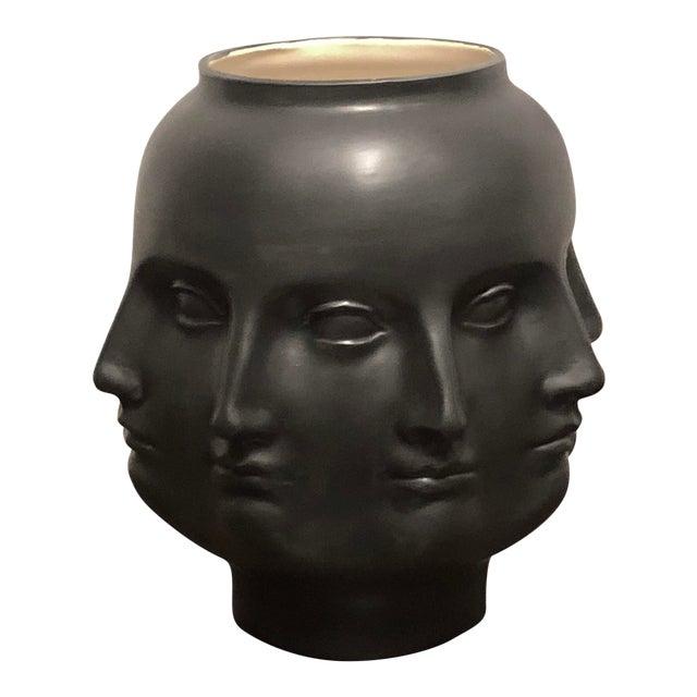Black Hollywood Regency Dora Maar Style Perpetual Face Vase For Sale - Image 8 of 8