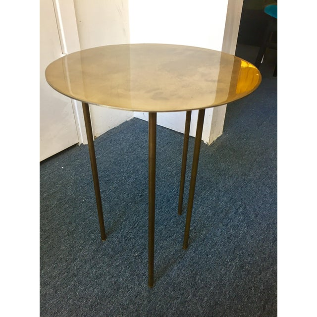 Modern Brass Side Table - Image 4 of 7