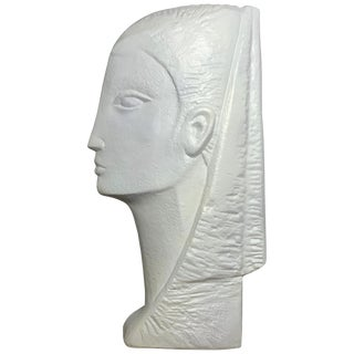 Contemporary Funky Plaster Bust For Sale