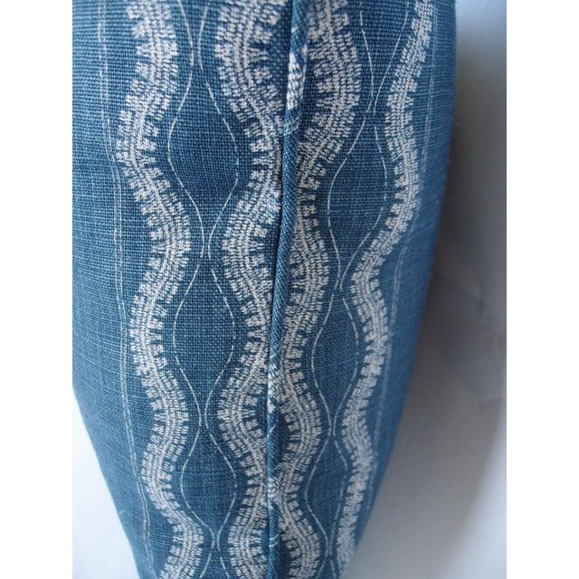 Indigo Blue and White Pillow - Image 3 of 4