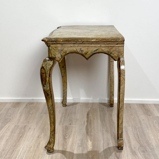 Baroque Italian Baroque Style Console Table For Sale - Image 3 of 8