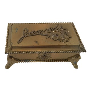 """Vintage Quadruple Plate """"Jewels"""" Jewelry Box"""