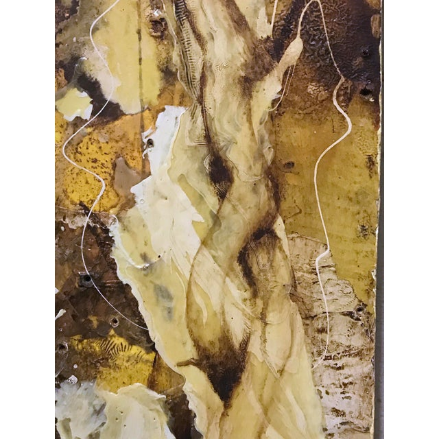 """Paint """"White Root"""" Abstract Expressionist Painting by David Geiser For Sale - Image 7 of 13"""