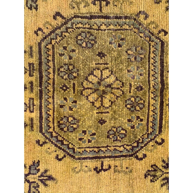 Mid 20th Century Vintage Turkish Runner in Olive Green- 4′7″ × 11′8″ For Sale - Image 5 of 10