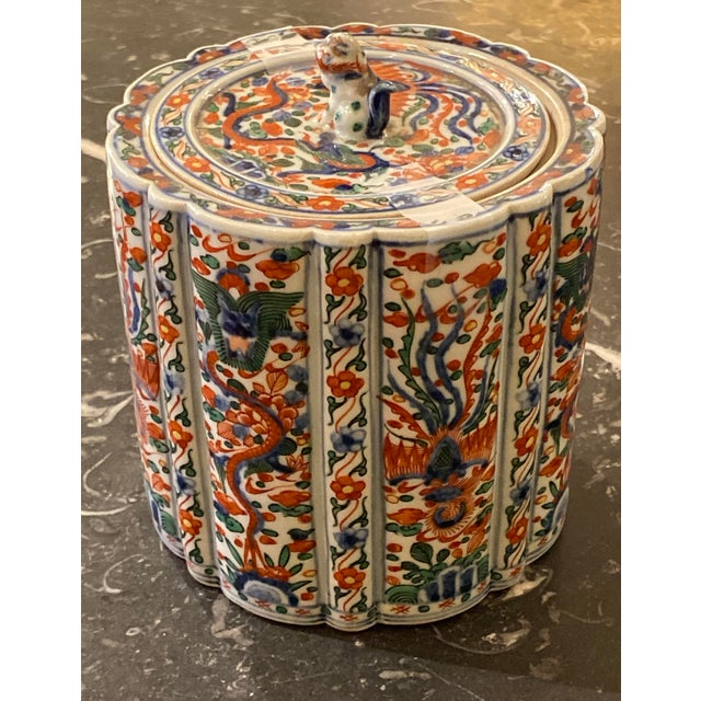19th Century Wanli Wucai Chinese Export Lidded Box For Sale - Image 5 of 12