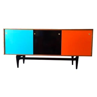 Mid-Century Style Custom Cherry Wood Credenza For Sale