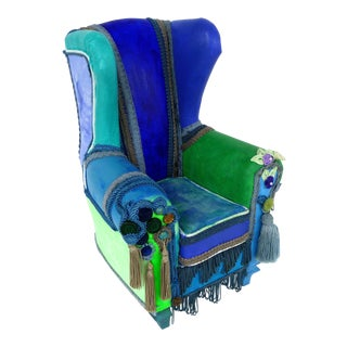 Upholstered Chair Sculpture by Artist Guiomar Gamero