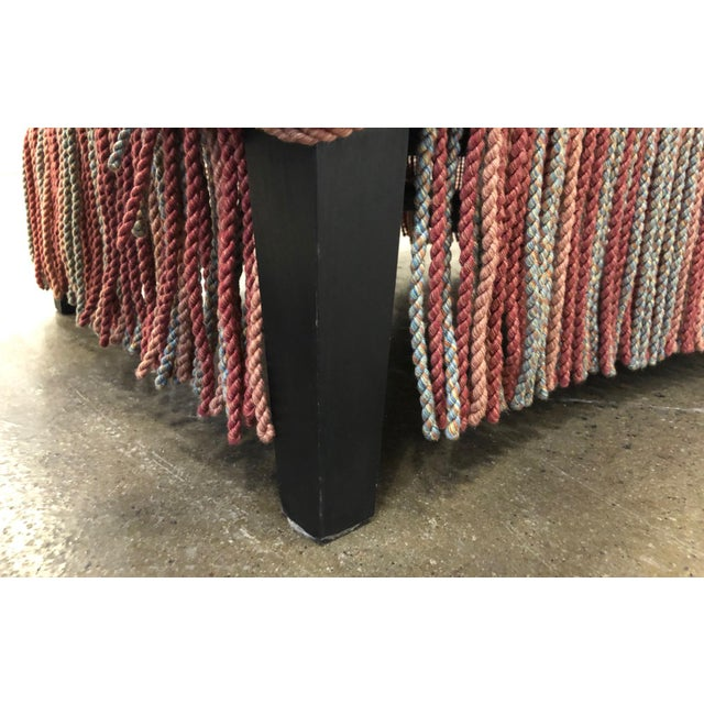 Custom Made Sofa in Vintage Flat Woven Kilim For Sale - Image 10 of 11