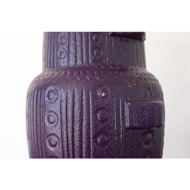 Mid Century Modern Purple Pottery Table Lamp For Sale - Image 12 of 13