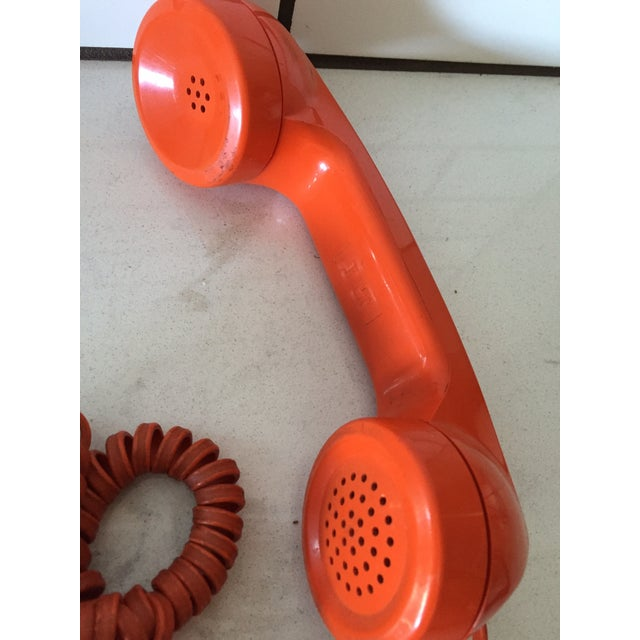 Vintage Orange Wall Phone - Image 8 of 12