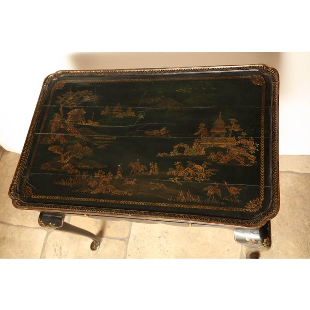 Queen Anne Lacquered Tea Table For Sale In Charlotte - Image 6 of 11