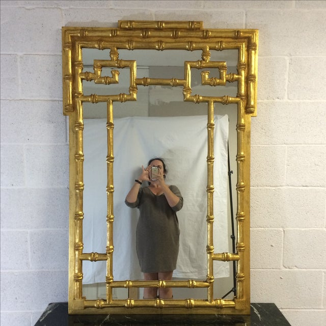 Asian Gold Bamboo-Style Mirror For Sale - Image 3 of 8