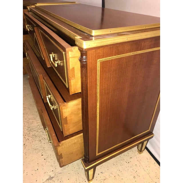 1970s Pair of Russian Neoclassical Style Commodes / Bedside Nightstands or Servers For Sale - Image 5 of 13