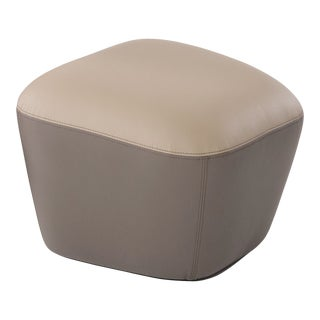 VIP Saloti Leather Spencer Pouf For Sale