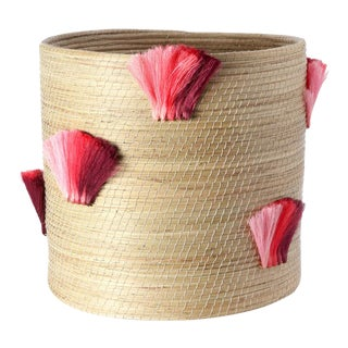 Fanned Out Jumbo Planter Natural & Peony Fans