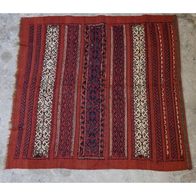 "Vintage Turkish Aztec Print Rug - 5'1"" x 5'3"" - Image 6 of 8"