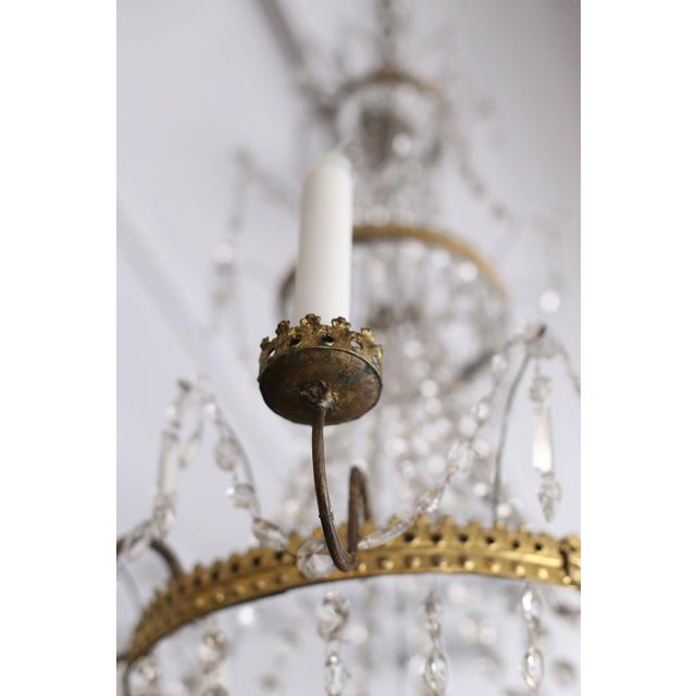 Neoclassical Italian Gilt Chandelier For Sale In Houston - Image 6 of 10