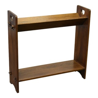 Crafters and Weavers Mission / Arts and Crafts Book and Magazine Stand Walnut (W1) For Sale