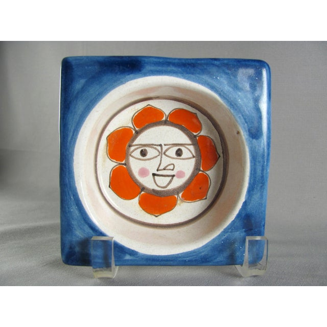 1960s DeSimone Hand Painted Sun Wine Bottle Coaster For Sale - Image 11 of 11