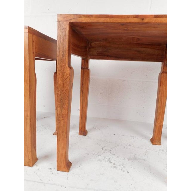 Sculptural Mid-Century Modern Nesting Tables - Set of 3 - Image 6 of 6