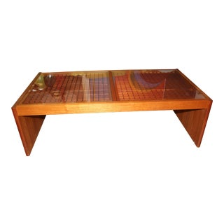 Artisan Craft Made Lattice Top Coffee Table For Sale