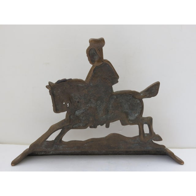 Brass Knight Fireplace Ornament For Sale - Image 4 of 6