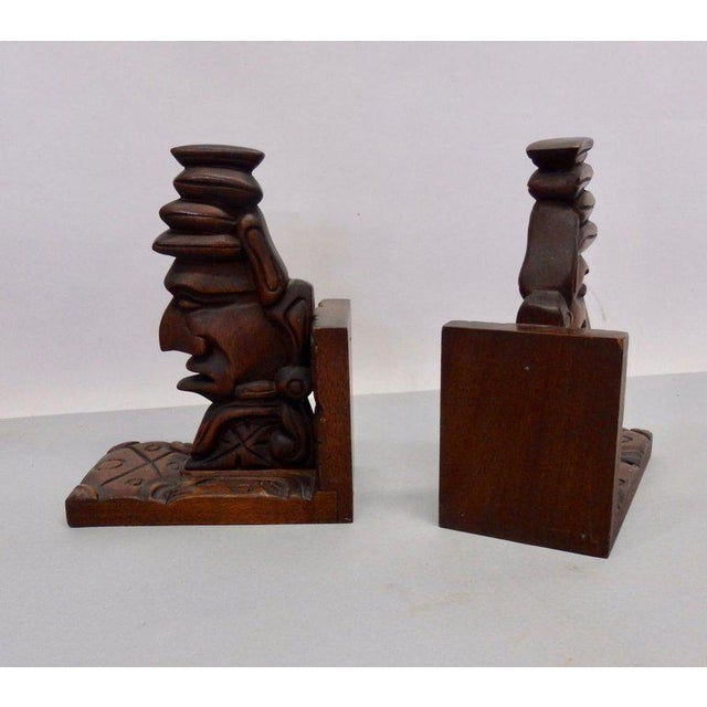 Carved Tiki Bookends - a Pair For Sale In Detroit - Image 6 of 7