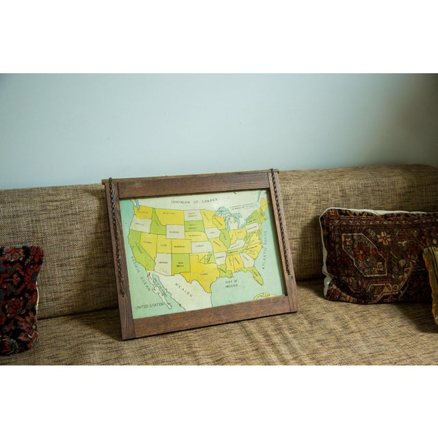 Antique Map Folk Art Painting of United States - Image 2 of 8