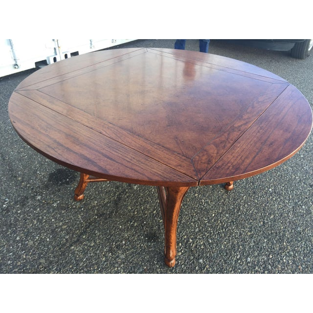 Metal Dining Table With Leaves For Sale - Image 7 of 11