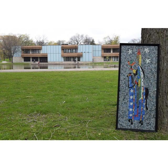 "Evelyn Ackerman ""Falconer"" California Modern Mosaic Panel For Sale - Image 4 of 7"