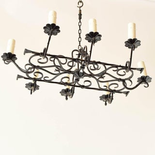 Vintage Elongated Iron Chandelier Preview