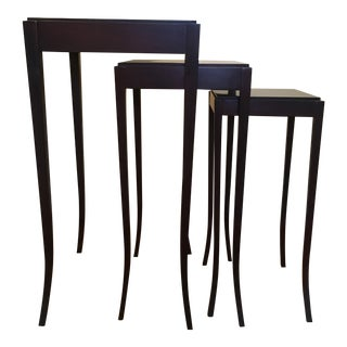 Traditional Barbara Barry Mahogany Nesting Tables - Set of 3 For Sale