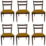 Image of Six Rosewood Dining Chairs Arne Vodder for Sibast For Sale
