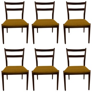 Six Rosewood Dining Chairs Arne Vodder for Sibast For Sale