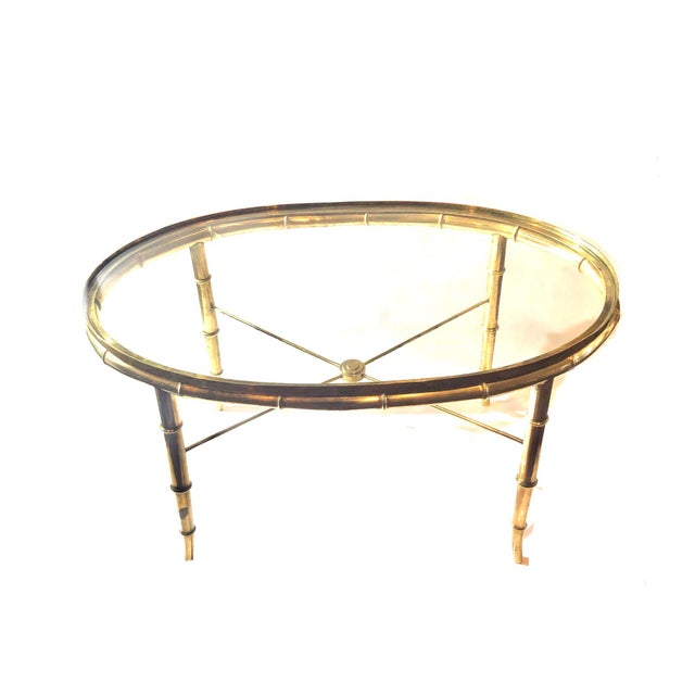 Brass 1970s Hollywood Regency Mastercraft Cocktail Table For Sale - Image 7 of 7