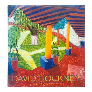"""David Hockney A Retrospective "" 1st Edition Vintage 1988 Hardcover Collector's Art Book"