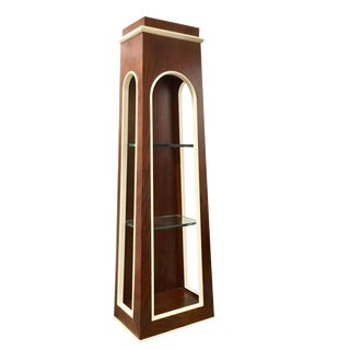 Modern Global Views Wood and Glass Wall Villa Cabinet For Sale