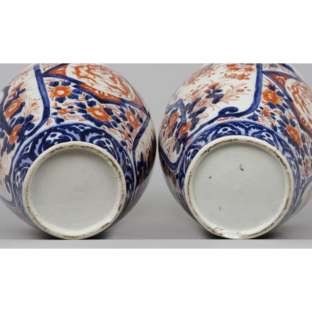 Pair of Japanese Imari Open Vases, circa 1870 For Sale In Boston - Image 6 of 7
