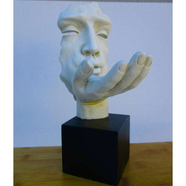 Modernist Sculpture the Kiss Abstract Hand For Sale - Image 9 of 11
